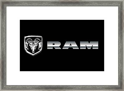 Dodge Ram Logo Framed Print