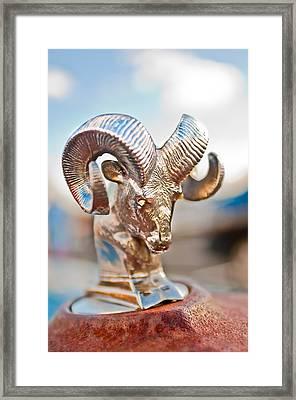Dodge Ram Hood Ornament 3 Framed Print by Jill Reger