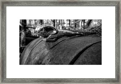 Dodge Ram In Black And White Framed Print by Greg Mimbs