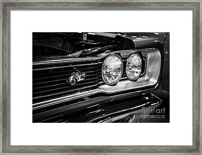 Dodge Super Bee Black And White Framed Print