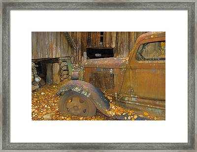Dodge Truck Autumn Abstract Framed Print by Dan Sproul