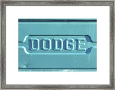 Dodge Truck Tailgate Framed Print