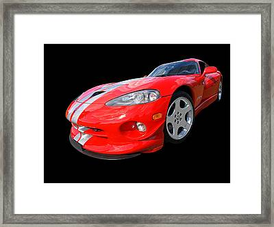 Dodge Viper Gts Framed Print by Gill Billington