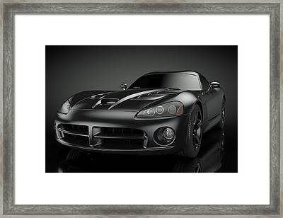 Dodge Viper Srt Framed Print by Marius
