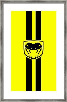 Dodge Viper Yellow Phone Case Framed Print by Mark Rogan