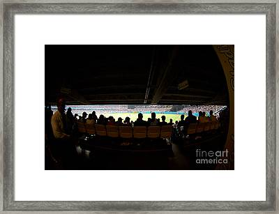 Dodger Stadium 2 Framed Print by Micah May