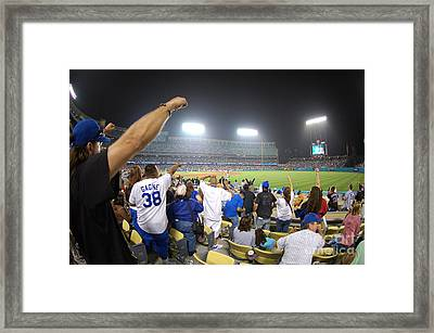 Dodger Stadium 3 Framed Print