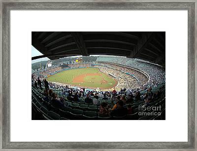 Dodger Stadium Framed Print by Micah May