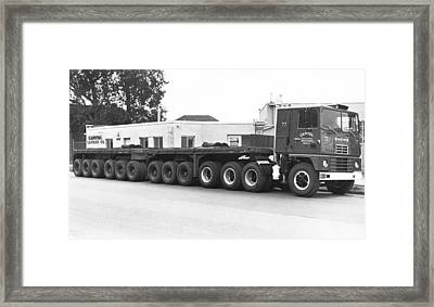 Dodge's Biggest Truck Framed Print by Underwood Archives