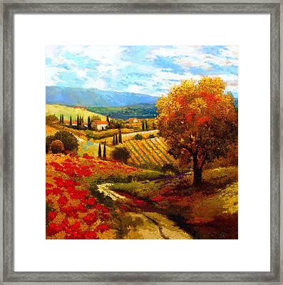 Dodogne Vineyard Framed Print by Kanayo Ede