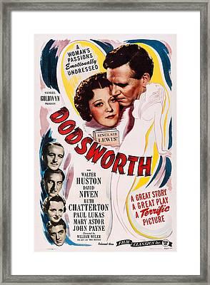 Dodsworth, Us Poster, Top From Left Framed Print by Everett