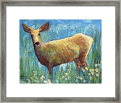 Doe Framed Print by Kenny Henson
