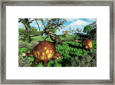 Doedicurus Mammals Framed Print by Walter Myers