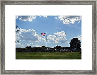 Framed Print featuring the photograph does that Star-Spangled banner yet wave by Toni Martsoukos