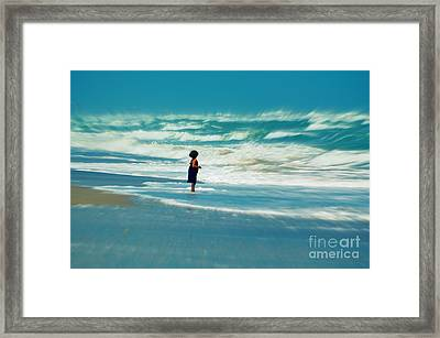 Does The Ocean Ever Stops Framed Print