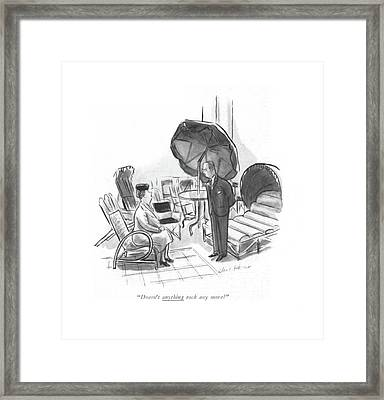 Doesn't Anything Rock Any More? Framed Print by Helen E. Hokinson