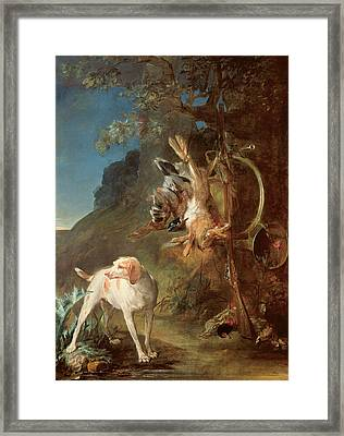 Dog And Game Framed Print by Jean-Baptiste Simeon Chardin