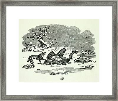 Dog And Master Framed Print by British Library