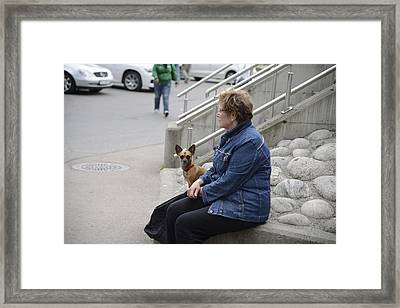 Dog And True Friendship 12 Framed Print