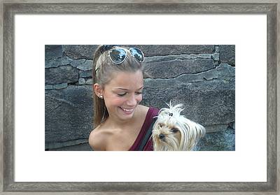 Dog And True Friendship 4 Framed Print