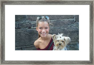 Dog And True Friendship 5 Framed Print