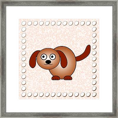 Dog - Animals - Art For Kids Framed Print by Anastasiya Malakhova