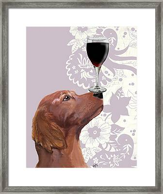 Dog Au Vin Framed Print by Kelly McLaughlan