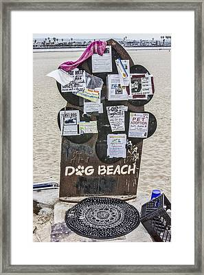 Dog Beach  Framed Print by Photographic Art by Russel Ray Photos