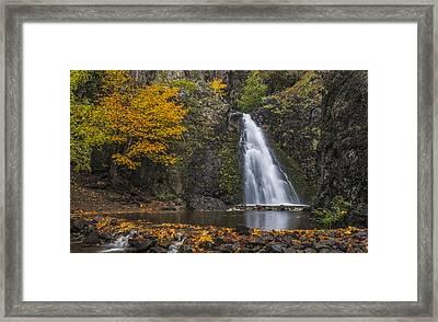 Dog Creek Falls Framed Print