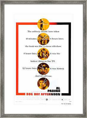 Dog Day Afternoon, Al Pacino, One-sheet Framed Print by Everett
