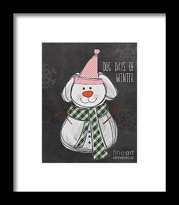Snowman Framed Prints