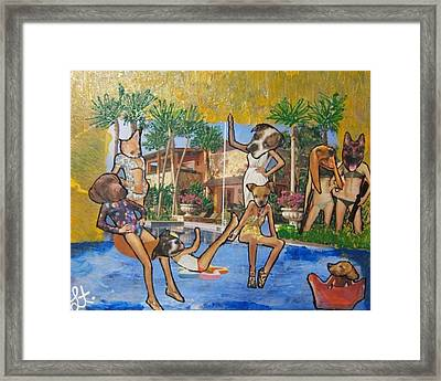 Framed Print featuring the painting Dog Days Of Summer by Lisa Piper