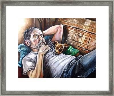 Dog Days Framed Print by Shana Rowe Jackson