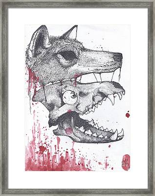 Dog Eat Dog Framed Print by Mabry Anderson
