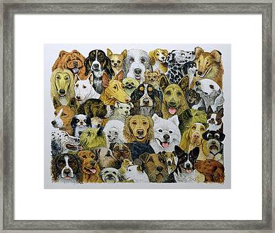 Dog Friends  Framed Print