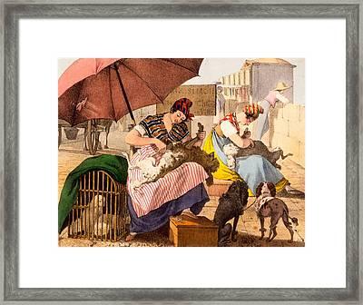 Dog Groomers, 1820 Framed Print