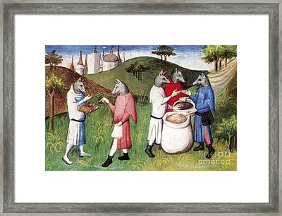 enDog-headed Men Of The Andaman Islands Framed Print by Photo Researchers
