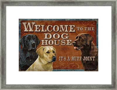 Dog House Framed Print by JQ Licensing