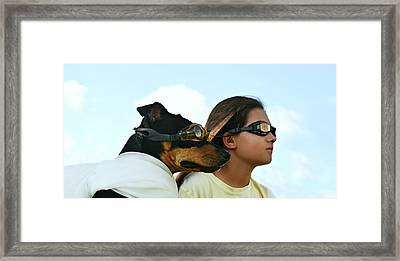 Dog Is My Co-pilot Framed Print by Laura Fasulo