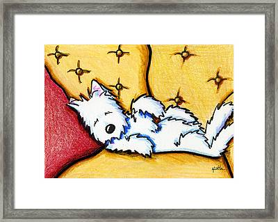 Dog Napped Framed Print