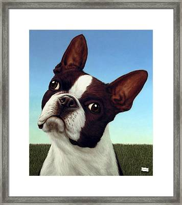 Dog-nature 4 Framed Print by James W Johnson