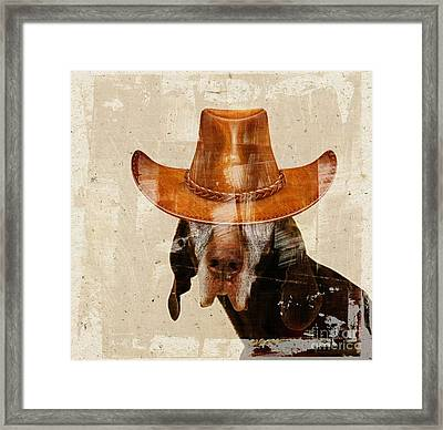 Dog Personalities 01 Cow-boy Framed Print by Variance Collections