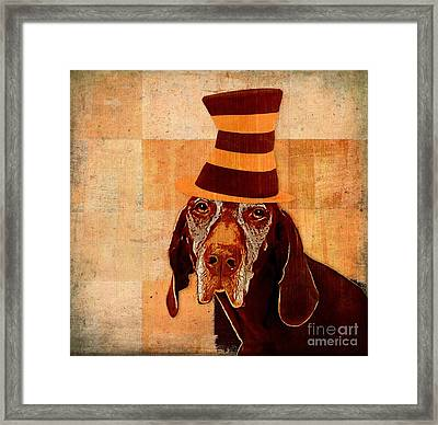 Dog Personalities 11 Cat In The Hat Framed Print