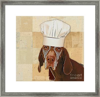 Dog Personalities 56 Chef Framed Print