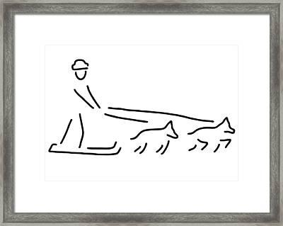 Dog Sledges Run Sledge Dogs Framed Print