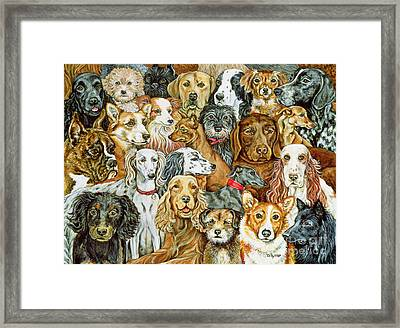 Dog Spread Framed Print by Ditz