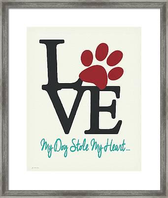 Dog Stole Framed Print by Jo Moulton