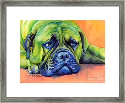 Dog Tired Framed Print
