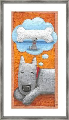 Dog Tired Variant 1 Framed Print by Peter Adderley