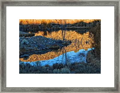 Dog Town Ghost Sunrise  Framed Print